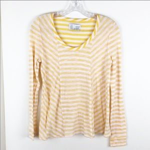 Anthropologie Saturday Sunday Yellow Stripe Shirt